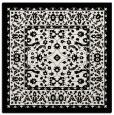 rug #1308767 | square black damask rug