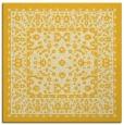 rug #1308795 | square yellow damask rug