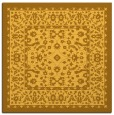 rug #1308807 | square yellow traditional rug
