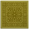 rug #1308815 | square light-green damask rug