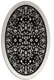 rug #1308847 | oval white borders rug