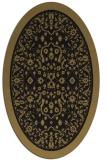 rug #1308871 | oval black traditional rug