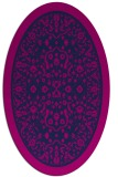 rug #1308879 | oval blue traditional rug
