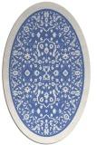 rug #1308891 | oval blue damask rug