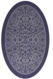rug #1308931   oval blue-violet borders rug