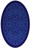 rug #1308943 | oval blue-violet damask rug