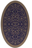 rug #1308947 | oval beige natural rug