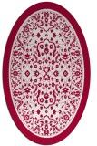 rug #1308960 | oval damask rug