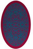 rug #1308963 | oval blue-green natural rug