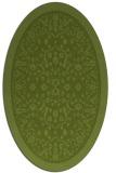 rug #1308971 | oval green traditional rug