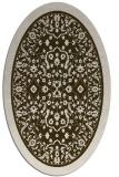 rug #1309005 | oval borders rug