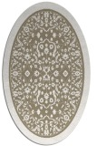 rug #1309007 | oval white borders rug