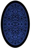 rug #1309047 | oval black borders rug