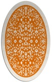 rug #1309059 | oval orange traditional rug