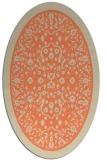 rug #1309063 | oval orange borders rug