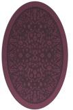 rug #1309087 | oval purple borders rug