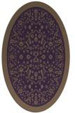 rug #1309095   oval purple damask rug