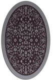 rug #1309099 | oval purple traditional rug