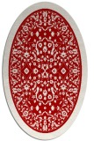 rug #1309103 | oval red damask rug