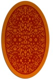rug #1309107 | oval red traditional rug