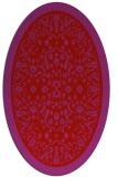 rug #1309115 | oval pink natural rug