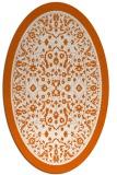 rug #1309131   oval red-orange borders rug