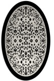 rug #1309135 | oval black borders rug