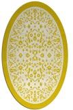 rug #1309139 | oval white traditional rug