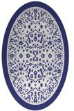 rug #1309143 | oval white borders rug