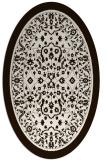 rug #1309147   oval brown damask rug