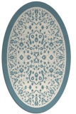 rug #1309155 | oval white borders rug