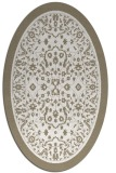 rug #1309159 | oval white traditional rug