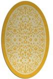 rug #1309163   oval yellow damask rug