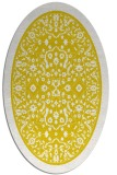 rug #1309171 | oval yellow traditional rug