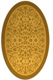 rug #1309175 | oval yellow borders rug