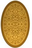 rug #1309175 | oval yellow damask rug