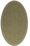 rug #1309187 | oval light-green rug