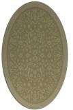 rug #1309187 | oval light-green popular rug