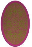 rug #1309191 | oval light-green rug