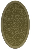 rug #1309195 | oval light-green rug