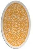 rug #1309207 | oval light-orange natural rug