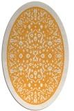 rug #1309207 | oval light-orange damask rug