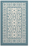 rug #1309523 |  blue-green borders rug