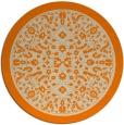 rug #1309579 | round orange damask rug