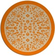 rug #1309579 | round orange borders rug