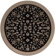 rug #1309591 | round black natural rug