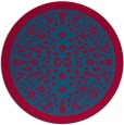 rug #1309699 | round blue-green borders rug