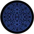 rug #1309783 | round black damask rug