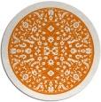 rug #1309795 | round orange borders rug