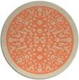rug #1309799 | round beige damask rug